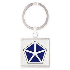 V Corps Square Keychain