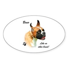 Boxer Breed Oval Decal
