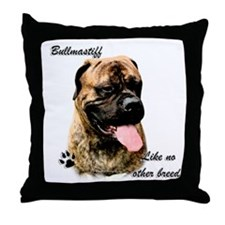 Bullmastiff Breed Throw Pillow