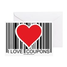 I-Love-Coupons Greeting Card