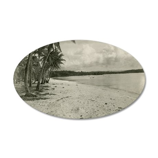 Tumon Beach 35x21 Oval Wall Decal