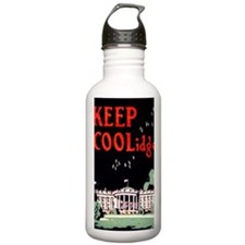 Calvin Coolidge Campai Water Bottle