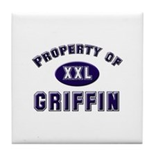 Property of griffin Tile Coaster