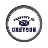 Property of greyson Wall Clock