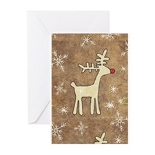 Cute Christmas Reindeer Greeting Cards