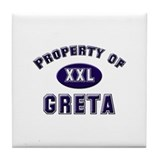 Property of greta Tile Coaster