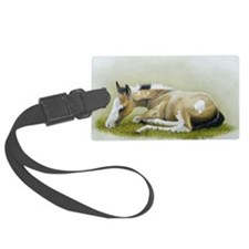 buckskin paint foal Luggage Tag