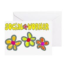 Social worker 2011 Big Flowers Greeting Card