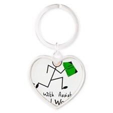 Social Worker Runs With Assistance Heart Keychain
