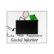 Social Worker Runs With Assistance Picture Frame