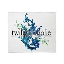 Eclipse Movie  Twilightaholic Floral Throw Blanket
