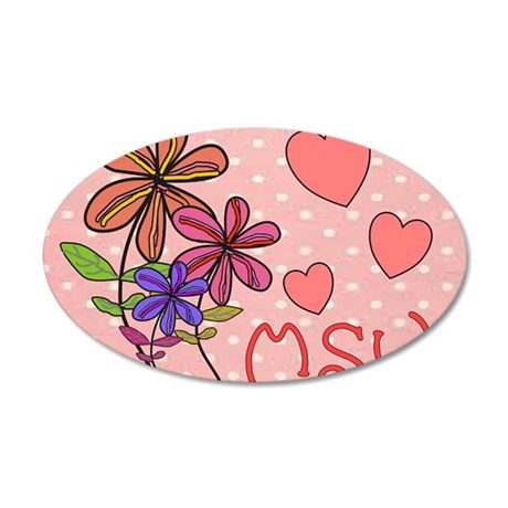 MSW Flowers 35x21 Oval Wall Decal