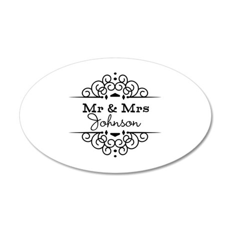 Personalized Mr and Mrs Wall Sticker