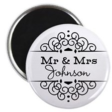 Personalized Mr and Mrs Magnets