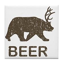 Beer Bear Deer Tile Coaster