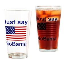 NOBAMA2 Drinking Glass