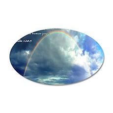 Psalm 128-5 Full Rainbow 35x21 Oval Wall Decal