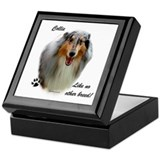 Collie Breed Keepsake Box