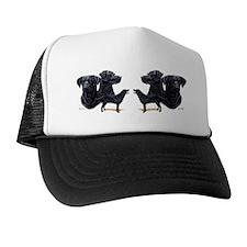 Black Lab Mug 2 Trucker Hat