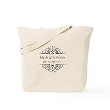 Custom Couples Name and wedding date Tote Bag