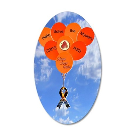 Help Solve the Mystery CRPS  35x21 Oval Wall Decal