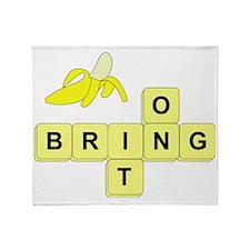 BananaGram_horizontal_bring_v2 Throw Blanket