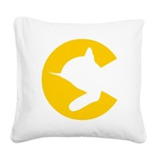 chessieyellow Square Canvas Pillow