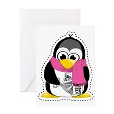 Couponing-Penguin-Scarf Greeting Card