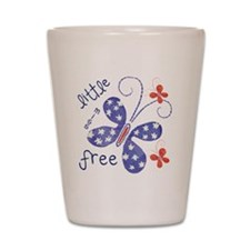 little miss free2 Shot Glass