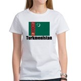 Turkmenistan Flag T Shirts Tee