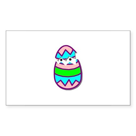 Hatching Chick Rectangle Sticker