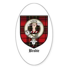 Brodie Clan Crest Tartan Oval Decal