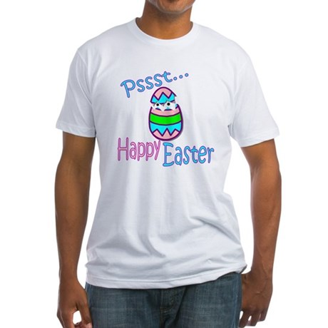 Happy Easter Chick Fitted T-Shirt