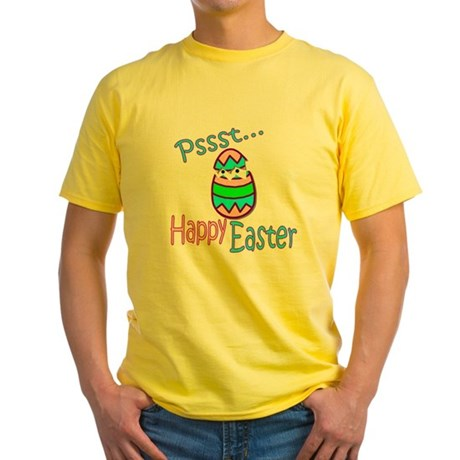 Happy Easter Chick Yellow T-Shirt