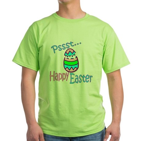 Happy Easter Chick Green T-Shirt
