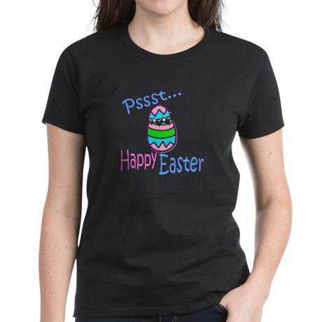 Happy Easter Chick Women's Dark T-Shirt