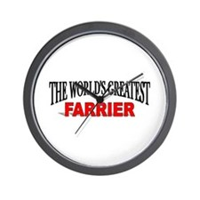 """The World's Greatest Farrier"" Wall Clock"
