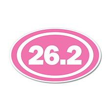 26.2 Pink Oval True Wall Sticker