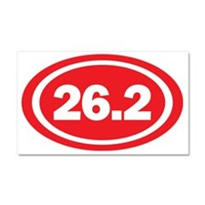 26.2 Red Oval True Car Magnet 20 x 12