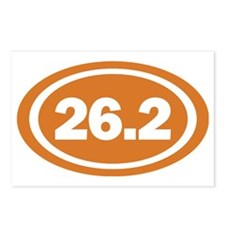 26.2 Burnt Orange Oval Tr Postcards (Package of 8)