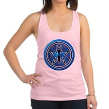Blue Goddess Pentacle - 02 Racerback Tank Top