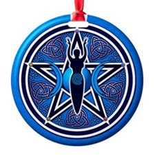 Blue Goddess Pentacle - 02 Ornament