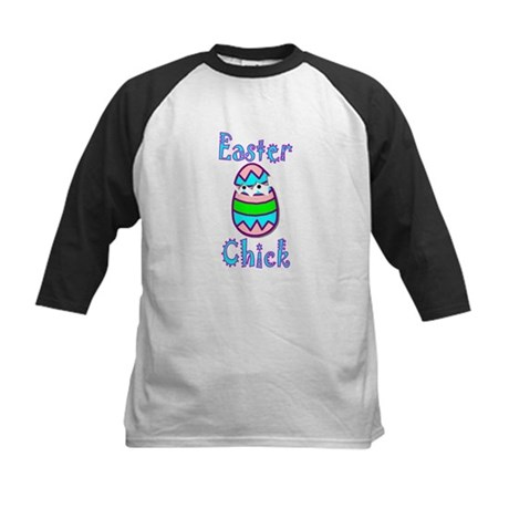 Easter Chick Kids Baseball Jersey