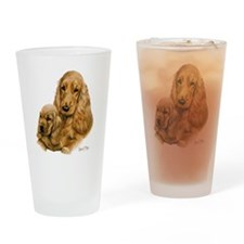 Cocker  Pup Red Drinking Glass