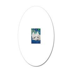 Westie5x7V 20x12 Oval Wall Decal