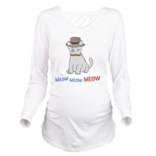 Mittens-D1-BlackAppa Long Sleeve Maternity T-Shirt