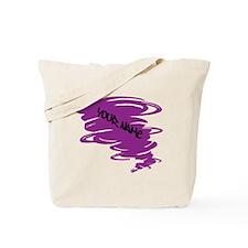 Purple Tornado Tote Bag