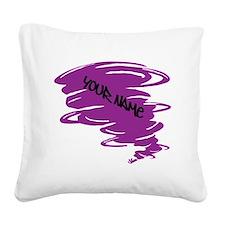 Purple Tornado Square Canvas Pillow
