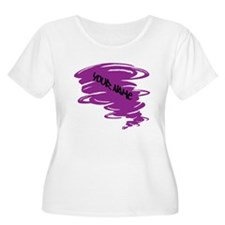 Purple Tornado Plus Size T-Shirt