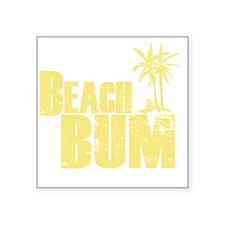 """beach bum Square Sticker 3"""" x 3"""""""